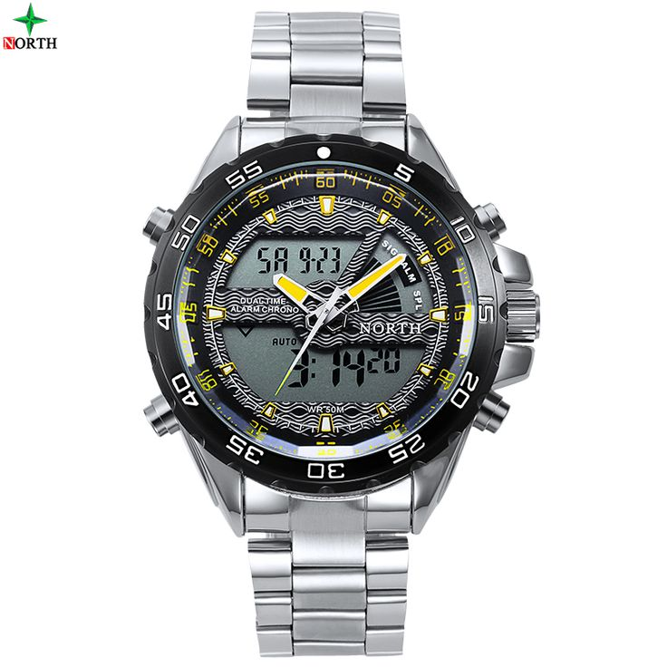 Digital Sport Watch Men Famous Brand Fashion Male Wristwatch Waterproof Stainless Steel LCD Analog Wrist Quartz Men Sport Watch #>=#>=#>=#>=#> Click on the pin to check out discount price, color, size, shipping, etc. Save and like it!