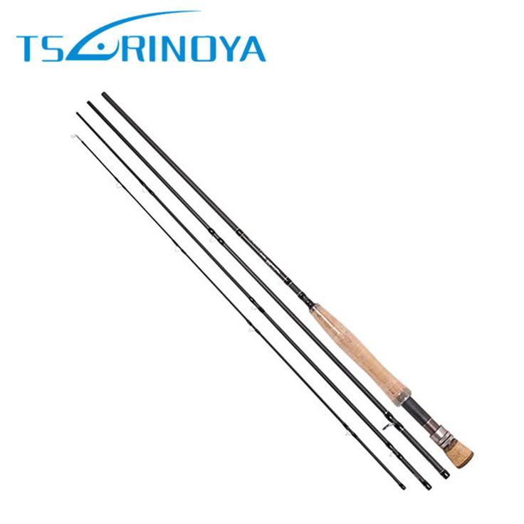 Tsulinoya New Fly Fishing Rod 2.7m Carbon 4Section With Rod Tube Vara De Pesca Fish Pole Canne a Peche Carpe Fishing Rod Pesca