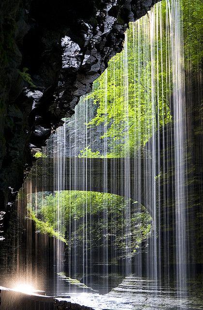 Rainbow Falls, Watkins Glen, NY by dhfore, via Flickr
