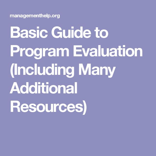 Basic Guide to Program Evaluation (Including Many Additional Resources)