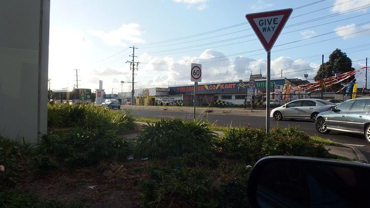 Ballarat Rd Braybrook driving out of Ashley st shopping Center Carpark 7.10.2014