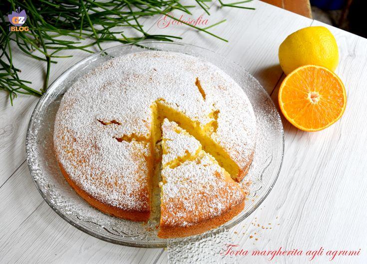 Torta+margherita+agli+agrumi,+ricetta+soffice+per+la+colazione