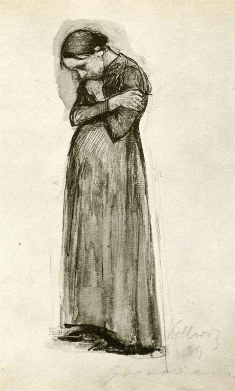 Kathë Kollwitz, Gretchen... I did a presentation on Kollwitz. You can clearly see her pain (as she lived a hard life) in her art.