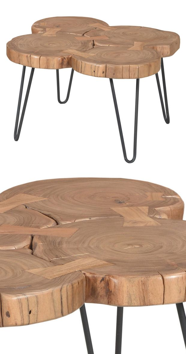 Relax Around This Rustic Table Design Beautifully Crafted From Natural Finished Acacia Wood