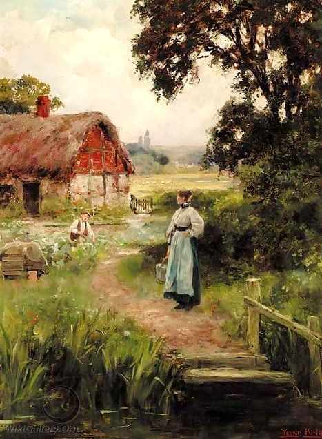 The Cottage Garden Henry John Yeend King English 1855 1924
