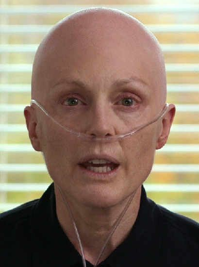 Julianne Moore as Laurel Hester - after chemotherapy