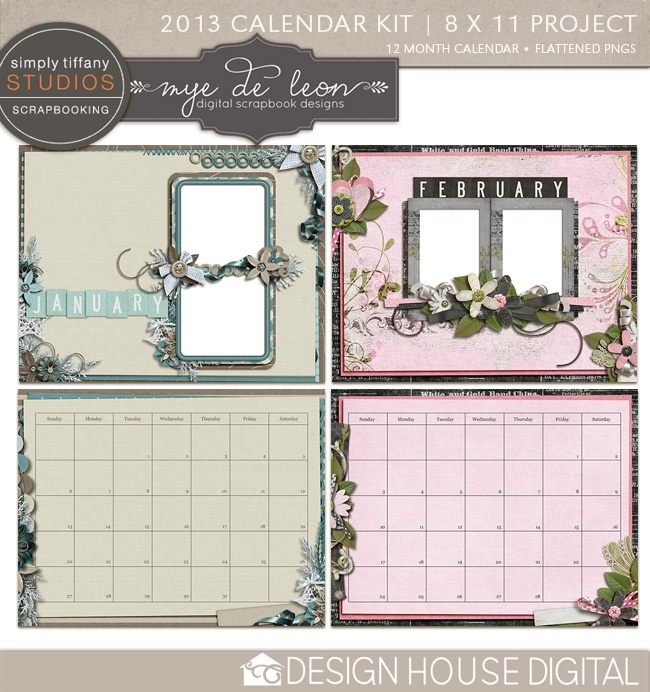 Calendar Kit Ideas : Best scrapbook calendars images on pinterest calendar