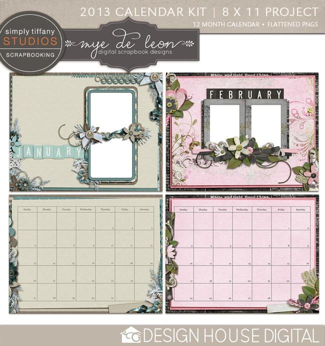 Calendar Kit Ideas : Best scrapbook calendars images on pinterest calendar