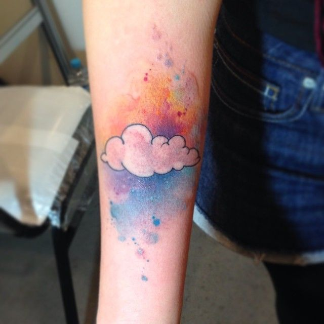 watercolor cloud tattoo - Google Search