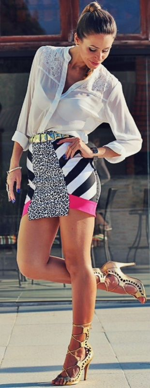 Crazy prints and badass shoes.