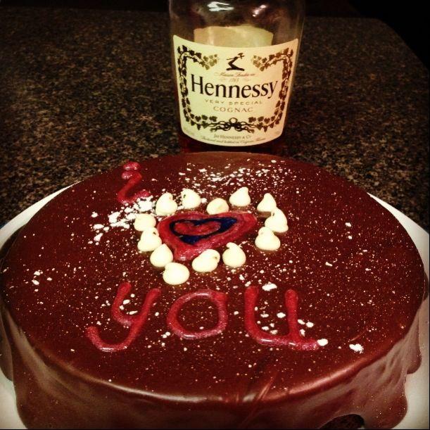 Alcohol Birthday Cake, Hennessy Liquor And Hennessy