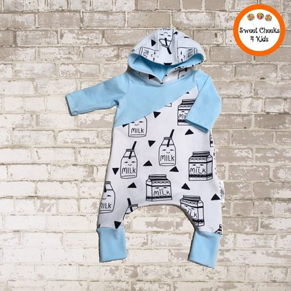 This very sweet and adorable little hooded harem romper will be perfect for your newest family member as a coming home outfit, or as a gift for a baby shower. Dads love the idea that they don't have to find matching tops and pants to dress their kids. Everything is coordinated beautifully in one piece.