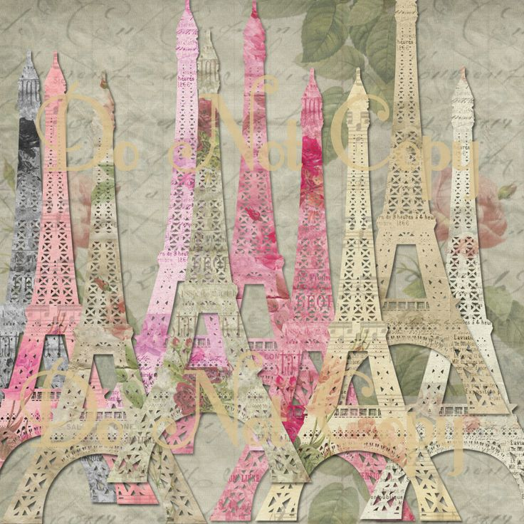 297 best images about shabby chic digital paper shabby - Scrapbooking paris boutique ...