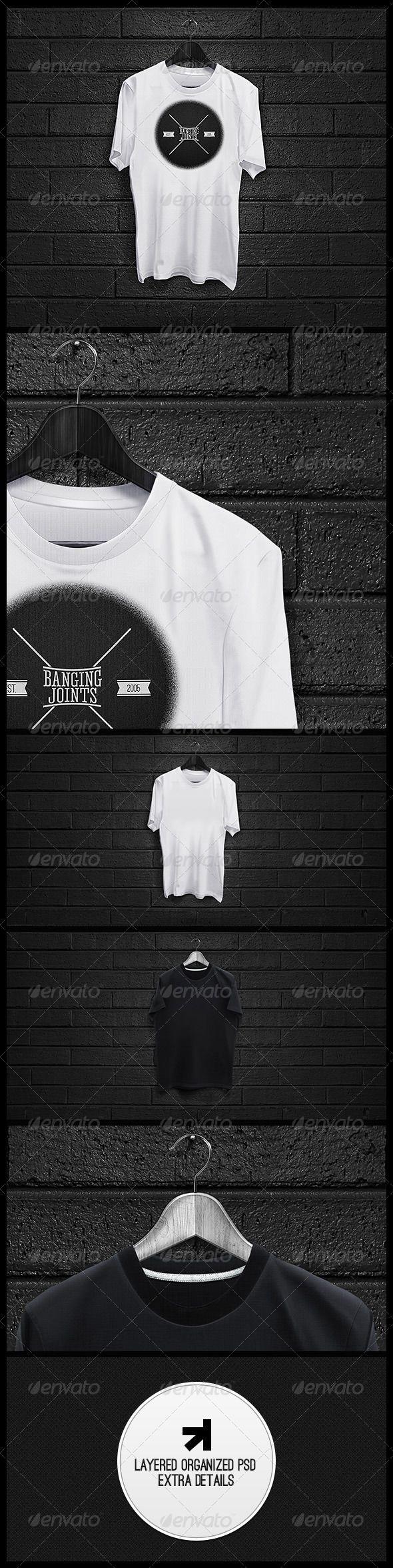 Black t shirt mockup psd free - Black White T Shirt Mockup