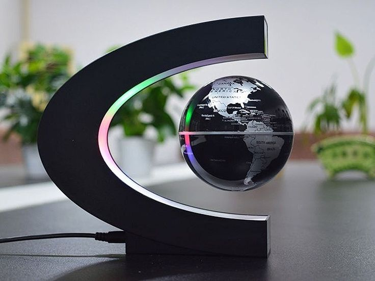 Levitation Globe with LED, QGSTAR Magnetic Levitation Floating Globe World Map Perfect Christmas Gifts for Home Office Decoration Desk Toy (Blue): Amazon.co.uk: Kitchen & Home