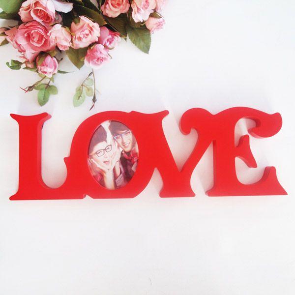 Kırmızı Love Ahşap Çerçeve