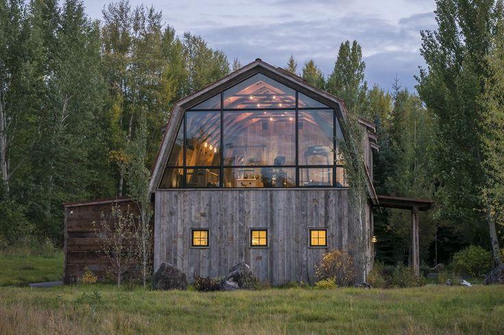 Old Hay Barn umgewandelt in ein modernes Gästehaus mit Licht gefüllt