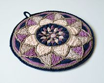 Ravelry: Stained Glass Mandala Potholder pattern by Tatsiana Kupryianchyk