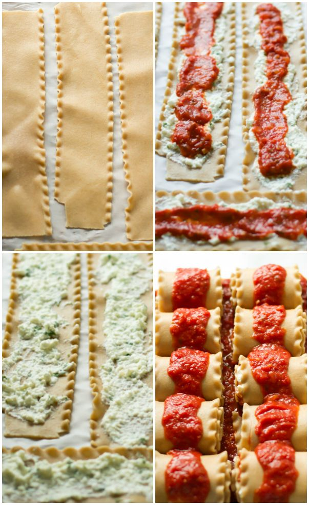 Skinny Lasagna Rolls - Primavera Kitchen