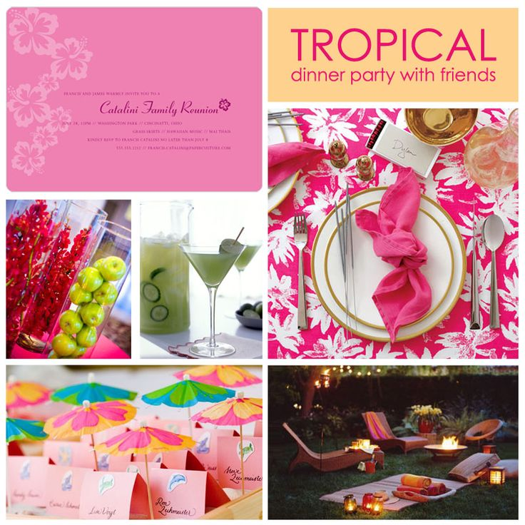tropical dinner party: Tropical Dinners, Parties Dresses, Theme Parties, Parties Ideas, Tropical Parties, Parties Decor Ideas, Parties Theme, Summer Dinners Parties, Fiestas Tropical