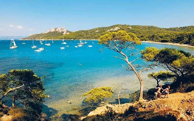 The best unsung family beach holiday resorts in Europe: Ile de Porquerolles and its Notre Dame beach, off the French Riviera, with information on accommodation, where to eat, and transport