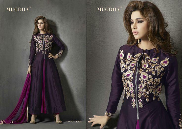 Designer wine color suit. By Mugdha