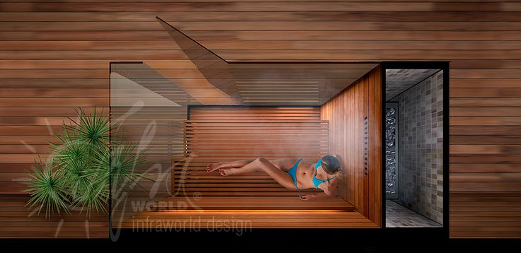 Truly distinctive characteristics of this custom-built bio sauna are provided for by the minimalist style and practical bench, streamlined touch of the Finnish aspen wooden material, the enlarging effects of the large glass surfaces and the location of the hidden sauna stove.