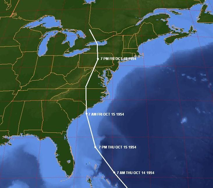 hurricane hazel | Hurricane Hazel Track - Click to enlarge