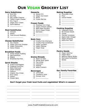 Best 25+ Vegan grocery lists ideas only on Pinterest | Vegan food ...