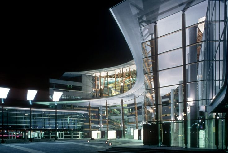 The stunning SFU Surrey campus looks amazing at night. Photo from 604.com.