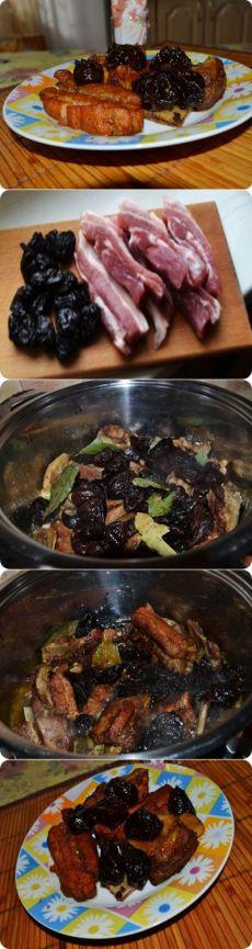 Говяжьи ребрышки с черносливом: пошаговый фото рецепт - пошаговые рецепты с фото