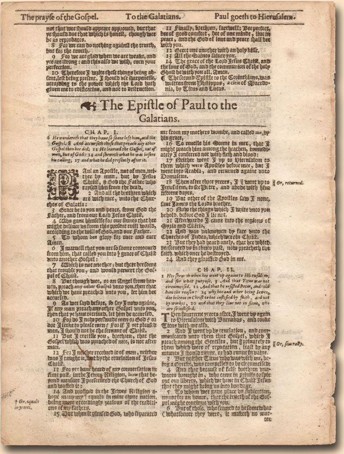 King James Bible Leaf