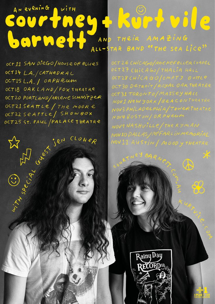 Courtney Barnett and Kurt Vile on tour with The Sea Lice. special guest Jen Cloher.