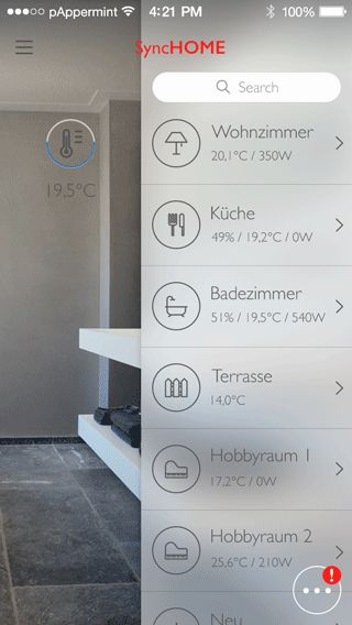 Home Automation System App Concept - Flat UI on Behance