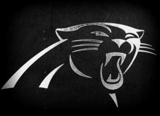 silver foil stamping- Carolina Panthers season ticket box