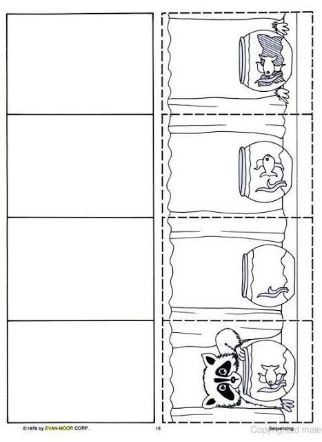 Logische volgorde vissenkom voor kleuters, free printable / SEQUÊNCIAS PARA ATIVIDADES DE REDAÇÃO