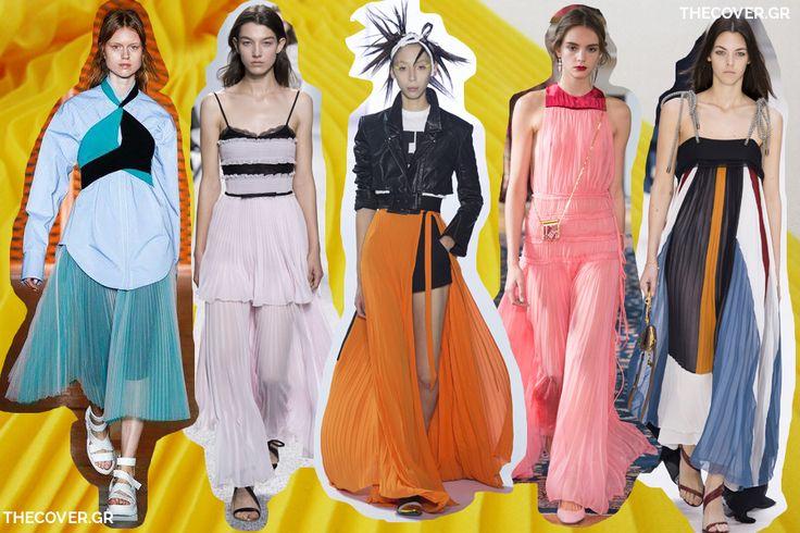 πλισέ τάση μόδας Άνοιξη Καλοκαίρι 2017