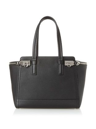Salvatore Ferragamo Women's Zipper Tote, Black