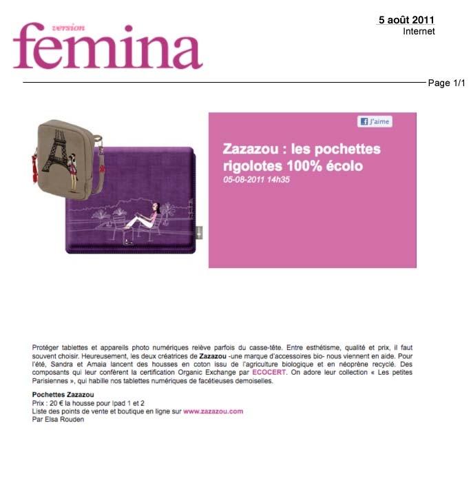 Version Femina, August 2011