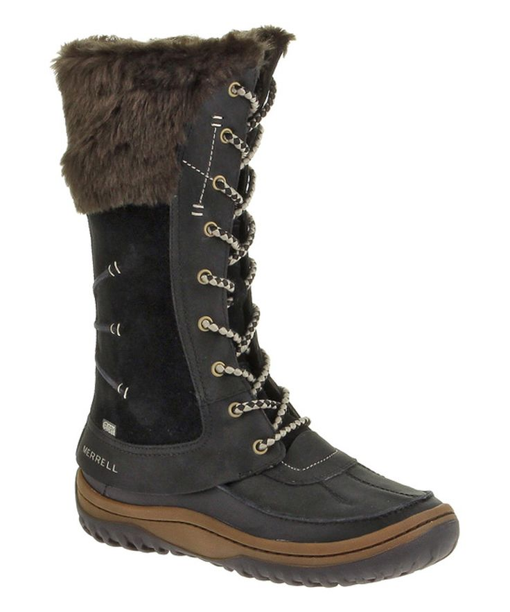 Look at this Merrell Black Decora Prelude Waterproof Leather Boot on  #zulily today!