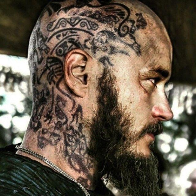52 best ragnar tattoo images on pinterest viking tattoos for Ragnar head tattoo stencil