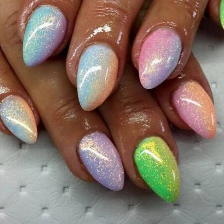 2016 New Mermaid Effect Nail Glitter Polish Sparkly Magic Glimmer Powder Dust DIY Nail Art Tip Decoration Tools Gel UV Nails Art