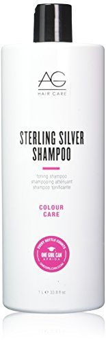AG Hair Sterling Silver Toning Shampoo, 33.8 Ounce  It is recommended for daily use; Please store in a cool dry place  8 ounce Shampoo  100% quality product