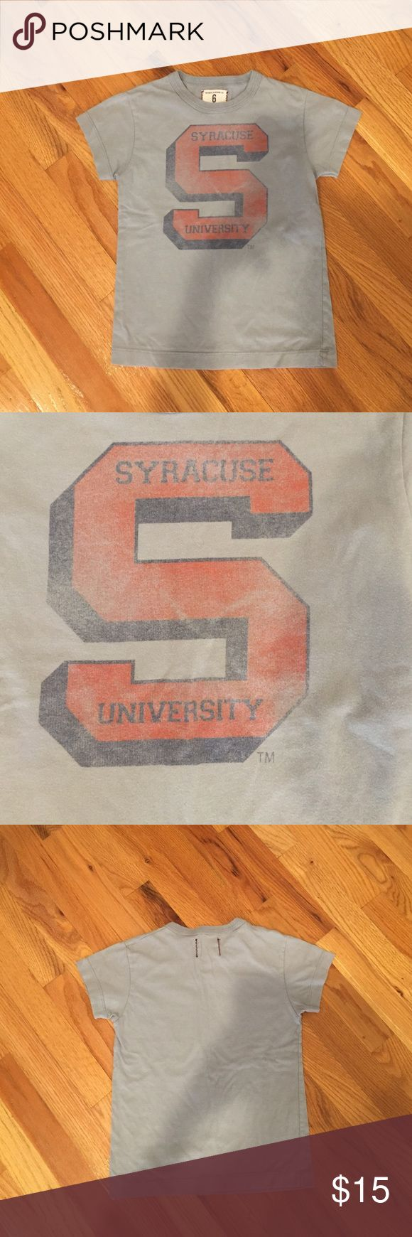 Tailgate Clothing Syracuse tee Gray worn in look tshirt Tailgate Clothing Shirts & Tops Tees - Short Sleeve