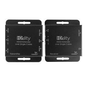 L'extendeur HDMI HDelity Cablesson sur Ethernet étend la portée de transmission Full HD 1080p ou 1920x120 jusqu'à 50m (130ft) et jusqu'à 60m (200ft) a 1080i / 720p via un câble unique Cat 5/6. En couplant les câbles HDMI, cela fournit des solutions p