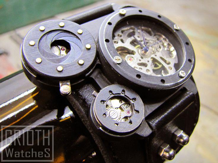 Steamwatch by GRIOTH. Industrial steampunk watch. check out https://www.facebook.com/grioth.steampunkcrafts