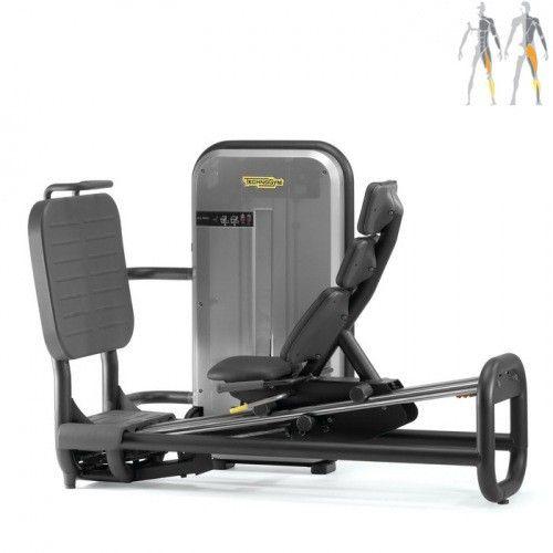 Специальный тренажер для тренировки ног.  - Тренажер обеспечивает целенаправленное выполнение многочисленных упражнений для нижних конечностей.  - Занимающийся садится на подвижное сиденье, позволяющее контролировать мускулатуру и суставы спины без какого-либо напряжения, а ноги ставит на специальную платформу.  - В зависимости от положения ступней и амплитуды толчковых движений можно тренировать различные мышцы с разной интенсивностью.