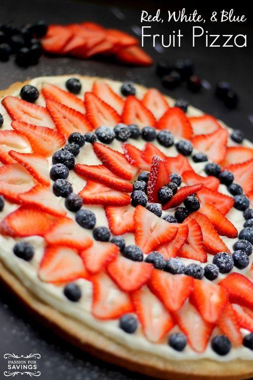 red white amp blue fruit pizza recipe easy patriotic