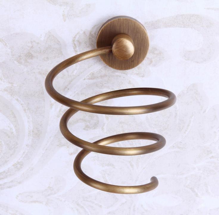 Espiral secador de pelo del sostenedor del soporte de montaje en pared soplador secador soporte / soporte de cobre en Soportes y Estanterías de Almacenamiento de Casa y Jardín en AliExpress.com | Alibaba Group
