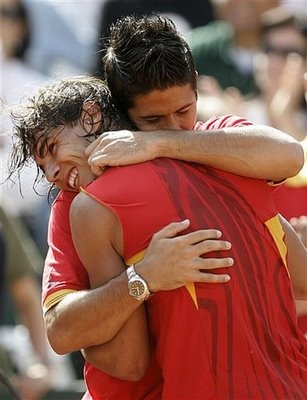 Rafa Nadal & Fernando Verdasco- Spain esta ganando!
